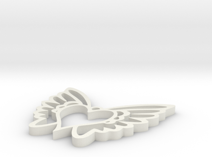Heart Wing Love 3d printed