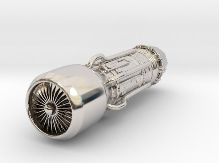 Jet Engine Keychain 3d printed
