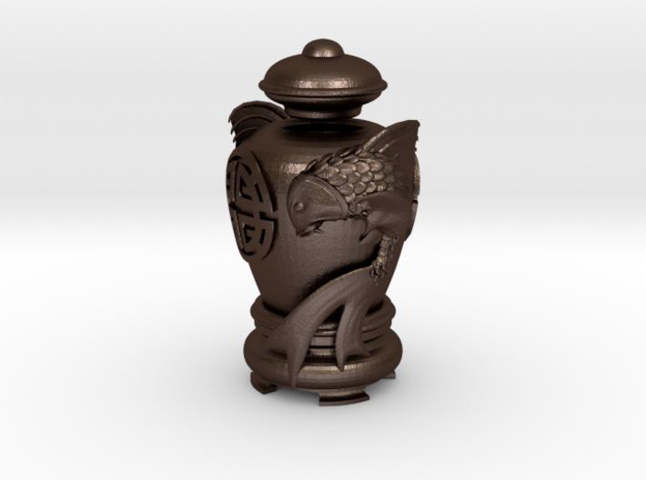 Twin Carp Oil-Lamp 3d printed