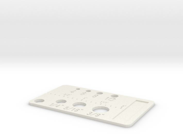 Simpler Screw Sizes Key Chain 3d printed