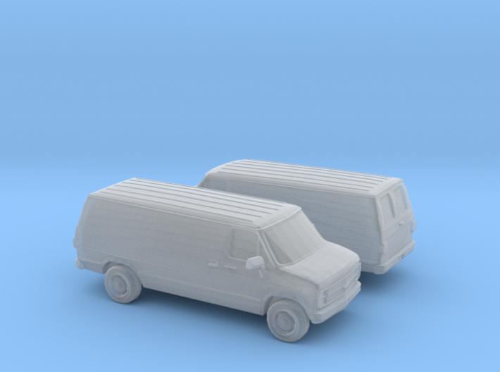 1/160 2X 1988 Chevrolet G Series Van 3d printed