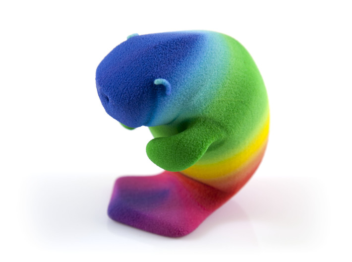 Oh, The Hue Manatee! 3d printed Uncoated