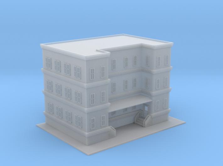 City Apartment Building 3 Z Scale 3d printed