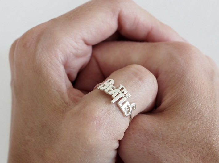 The Beatles Ring 3d printed