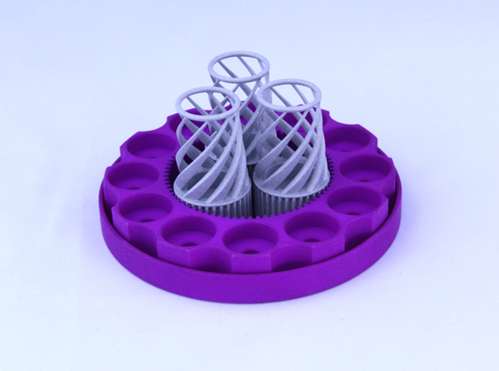 TriCyclone Vape Stand: Bottom Round Plate 3d printed Fully Built