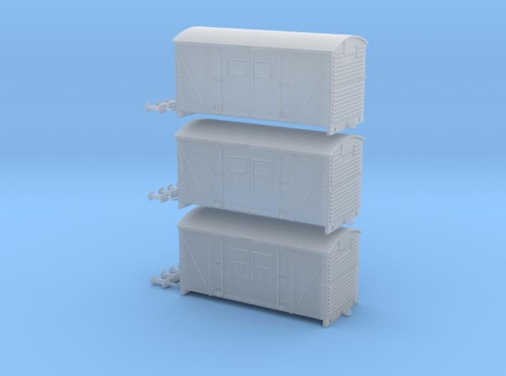 3 Pack BR Meat Van - N Scale 3d printed