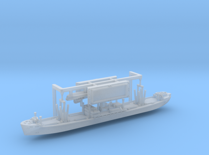WWII Hansa Type 9000 Freighter & Tug 1/2400 3d printed
