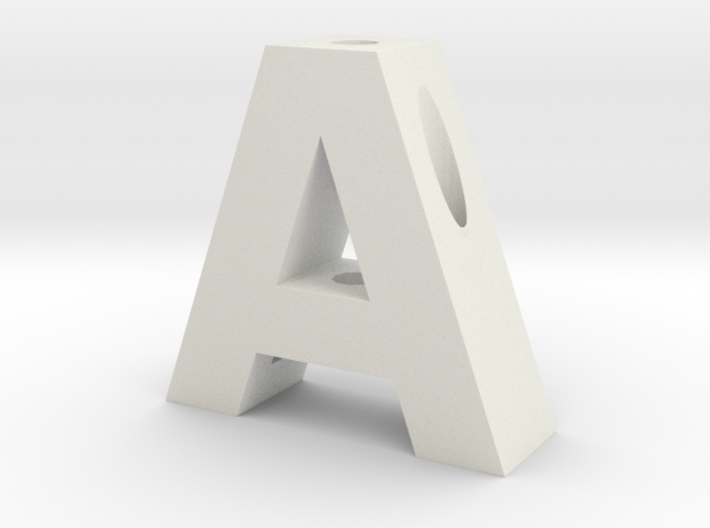 """A"" Pencil Holder 3d printed"