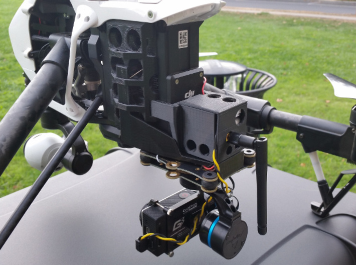 Video Transmitter backpack for DJI Inspire 1 3d printed