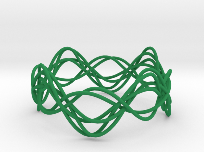 Wave Bangle B02L 3d printed