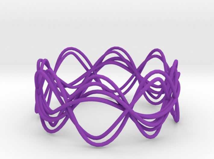 Wave Bangle B25L 3d printed