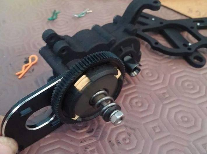 B5M LCG Battery strap and chassis strap 30mm fan 3d printed
