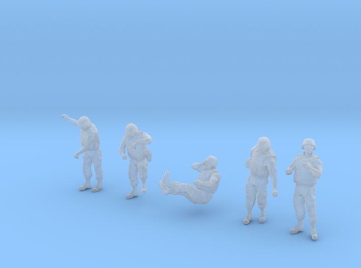 1-35 US Arty Crew Hot Weather Set6 3d printed
