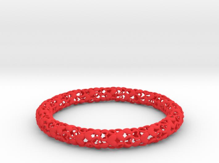 Heart By Heart Bracelet 3d printed