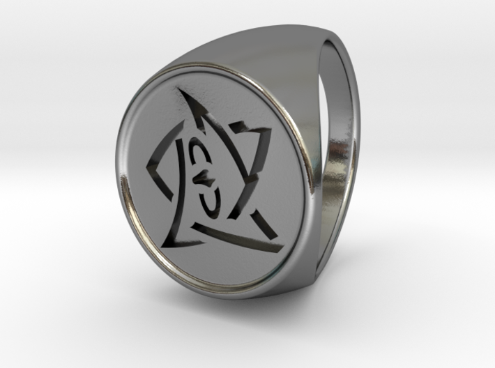Elder Sign Ring Size 10.5 3d printed