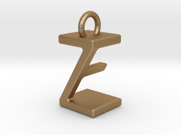 Two way letter pendant - EZ ZE 3d printed