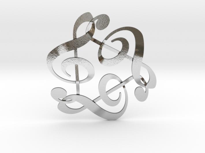 Triple G Clef 3d printed