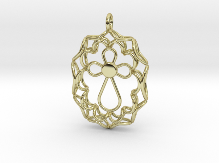 Pendant With Cross 3d printed