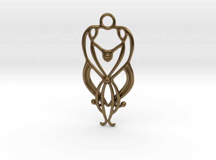 Art Deco Pendant #2 3d printed