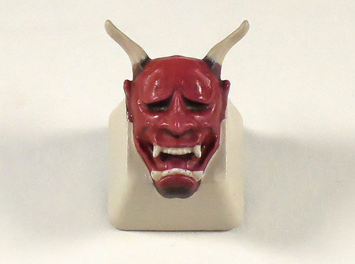 Cherry MX Hannya Keycap 3d printed The Hannya keycap with a lick of paint added by www.keypressgraphics.com