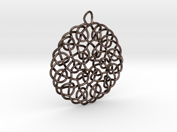Turks Head Knot Pendant 3d printed