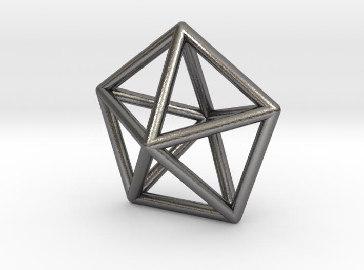 0307 Pentagonal Bipyramid J13 E (a=1cm) #001 3d printed