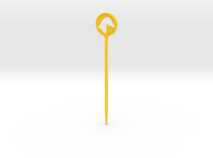 Branded Hair Stick (Single Prong) 3d printed