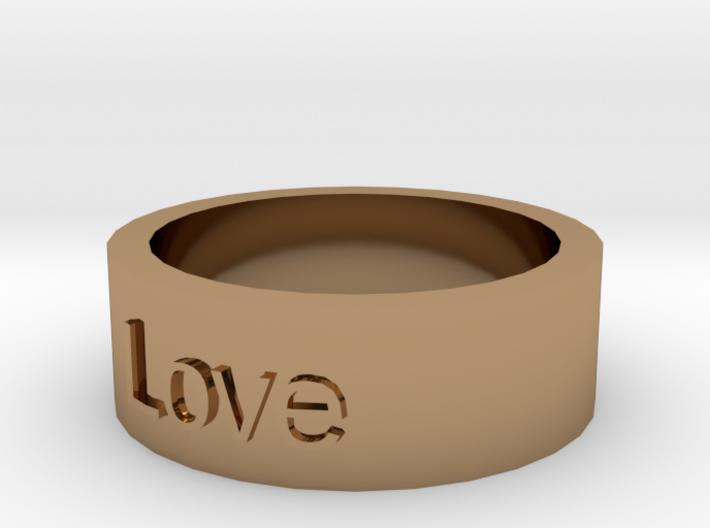 """Love"" Ring 3d printed"