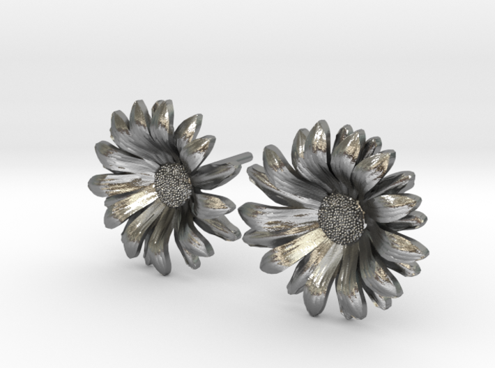 Daisy Studs 3d printed