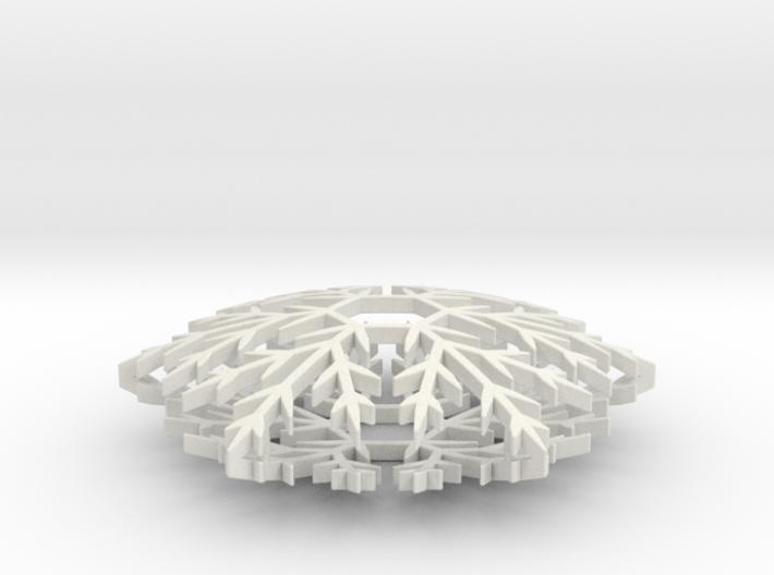 Snowflake ornament- 6cm 3d printed