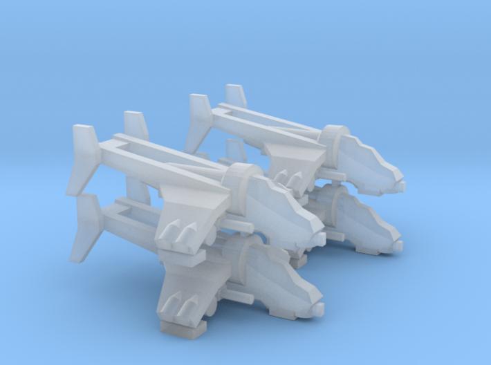 3mm 4x Gunship 3d printed