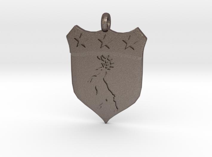 Irish Pendant Doherty Family Crest Coat of Arms 3d printed