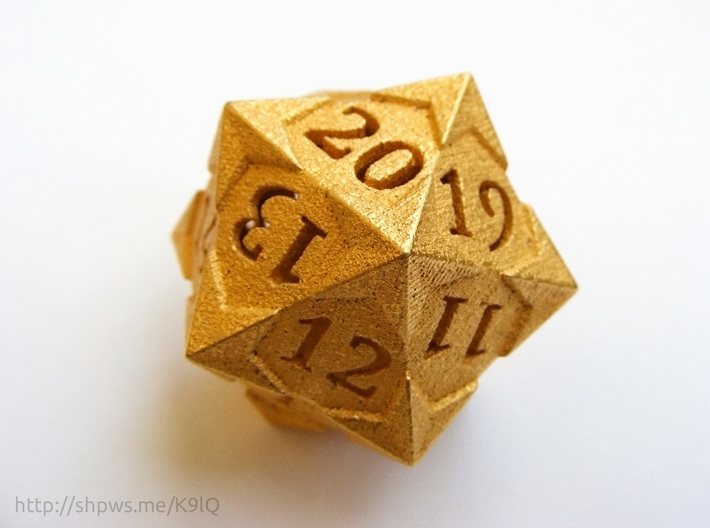 'Starry' D20 Spindown Life Counter Die 3d printed