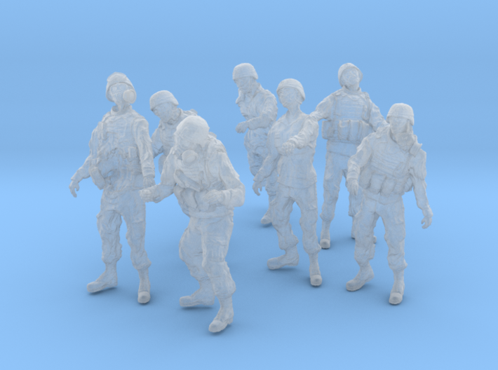 1-56 Seven Military Zombies Set2 3d printed