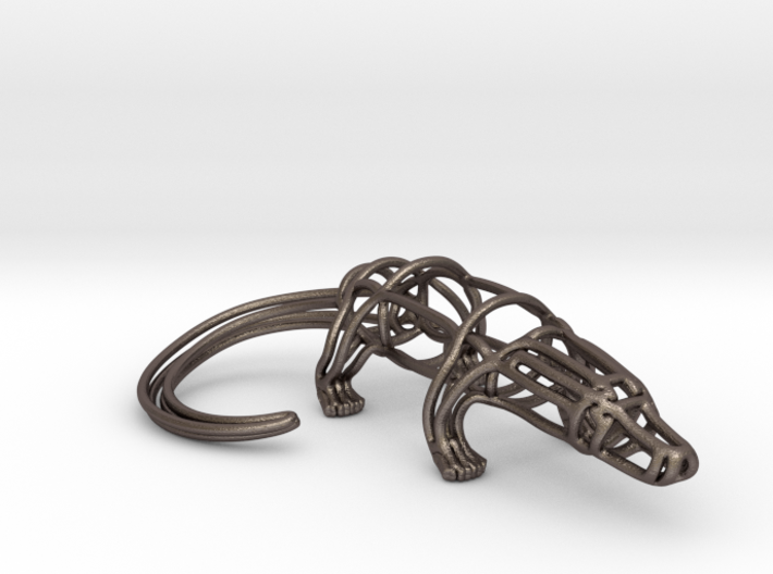 Alligator Wireframe 3d printed