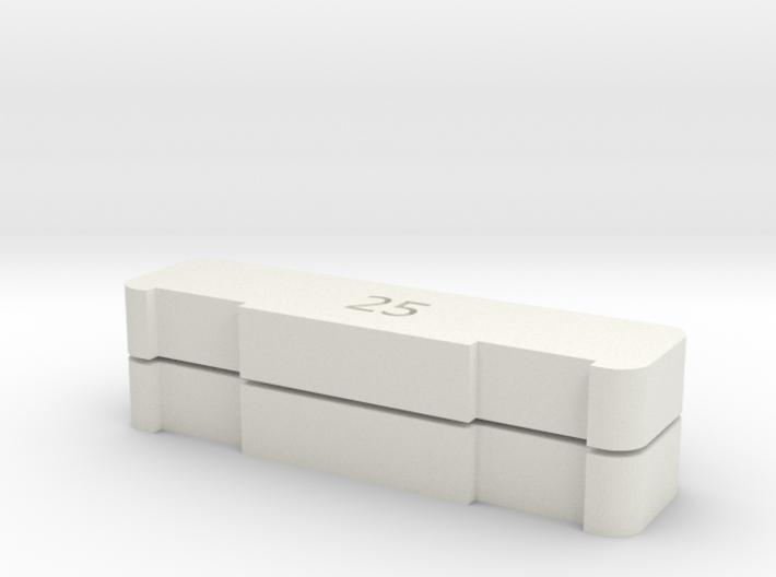2x Gleisabstand 25mm (1/220) 3d printed
