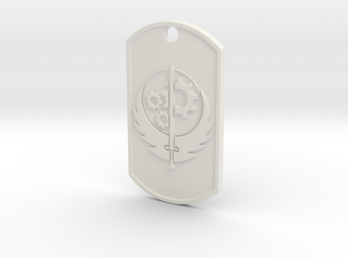 Brotherhood of Steel Dog Tag 3d printed