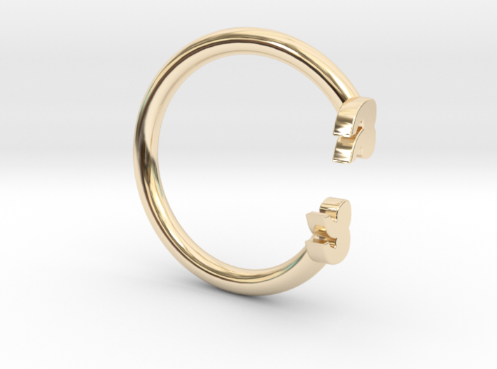 Punctuation Series: Quotation Ring (size 5.5) 3d printed