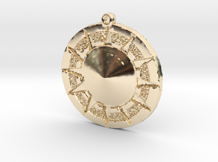 12 Tribes Star Pendent 3d printed
