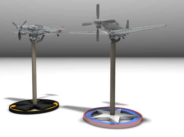 P51D Mustang Bombs & Drop tanks,1/56,28mm wargames 3d printed Aircrafts not included in this kit.