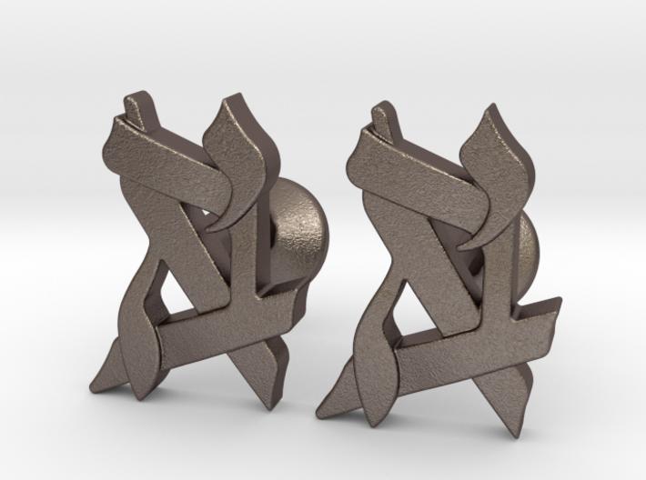Custom Monogram Cufflinks - Generic Button 3d printed