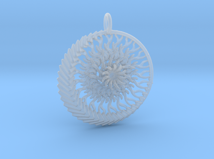 1 piece sun and moon pendant 3d printed