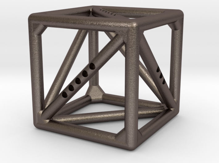 Cube with Tetrahedron inside 3d printed