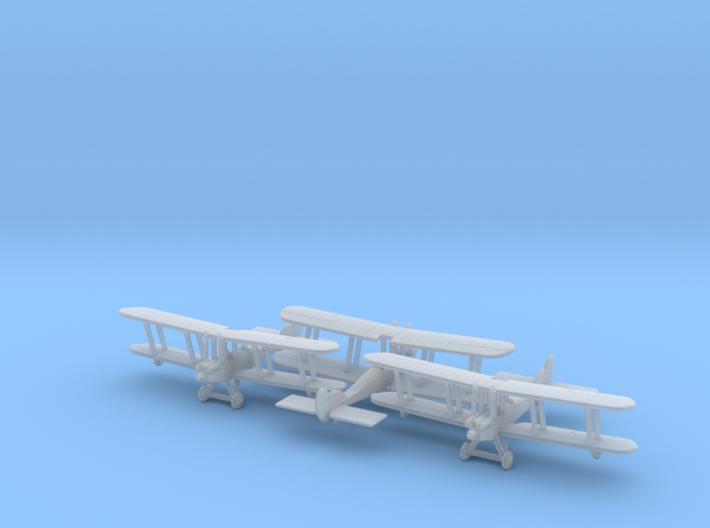 1/285 RAF BE2c x3 3d printed