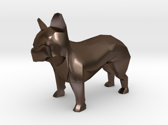 Low Poly French Bulldog 3d printed