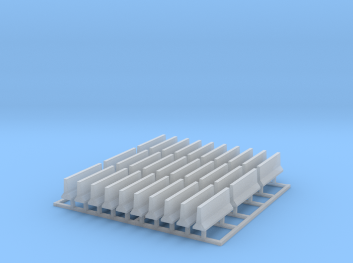 Highway Concrete Barriers Z Scale 3d printed 30 Concrete Barriers Z scale