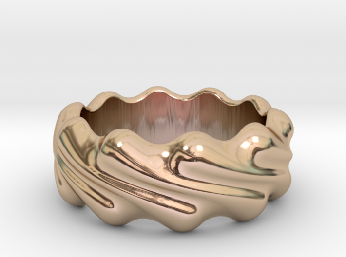 Ring Wave 28 - Italian Size 28 3d printed