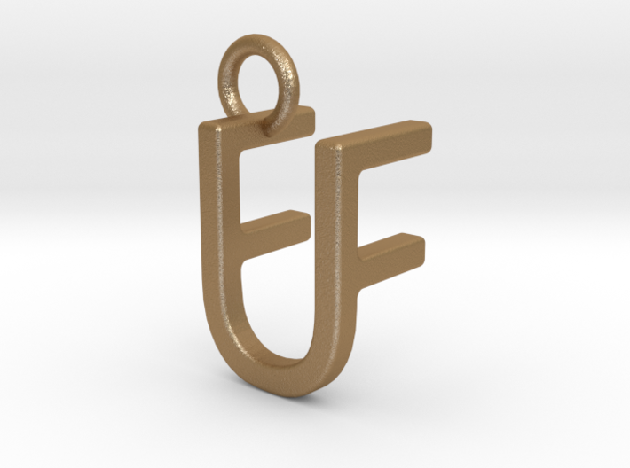 Two way letter pendant - FU UF 3d printed