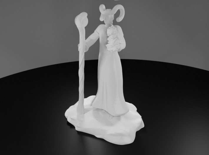 Tiefling Fire Sorcerer with Staff 3d printed 3D Render