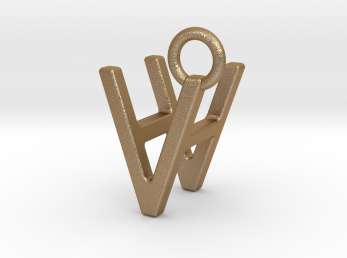 Two way letter pendant - HV VH 3d printed